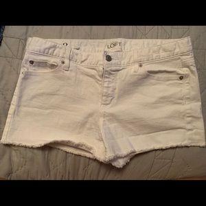 White Ann Taylor Loft Shorts
